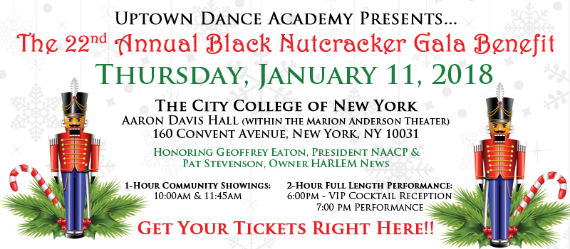 The 22nd Annual Black Nutcracker Gala Benefit - Thursday, January 11, 2018