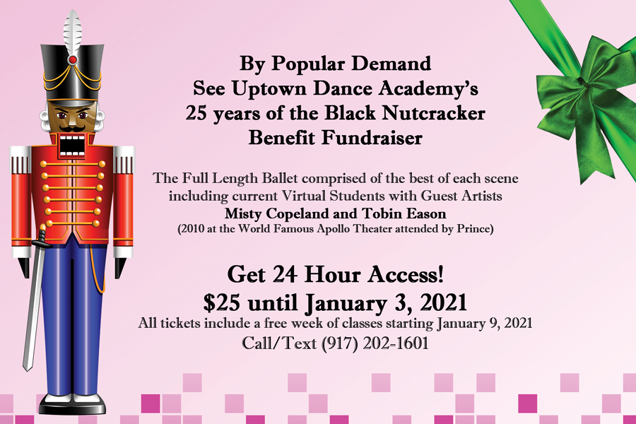 Watch the rebroadcast of Uptown Dance Academy's 25 Years of the Black Nutcracker Benefit Fundraiser